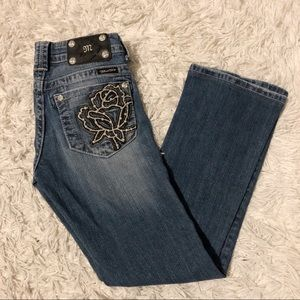 🌸Miss Me Rose Pocket Bootcut Jean